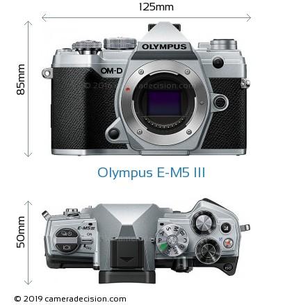 Olympus E-M5 III Body Size Dimensions
