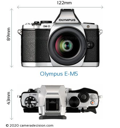 Olympus E-M5 Body Size Dimensions