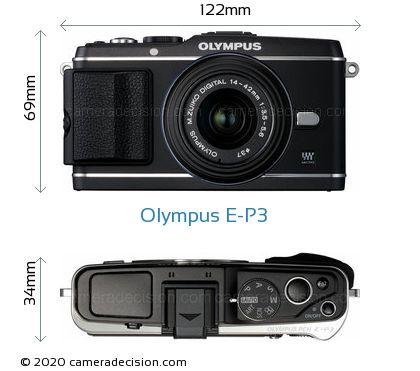 Olympus E-P3 Body Size Dimensions