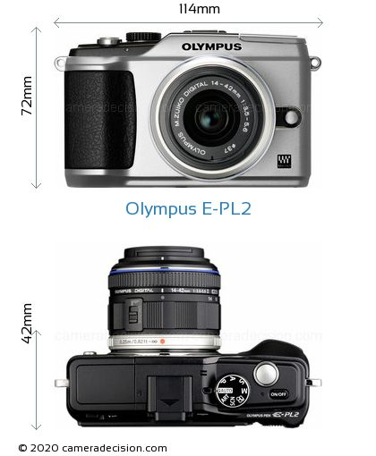 Olympus E-PL2 Body Size Dimensions
