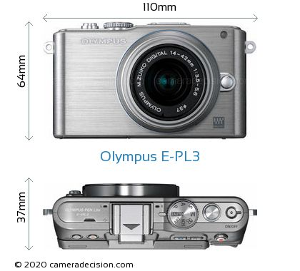 Olympus E-PL3 Body Size Dimensions