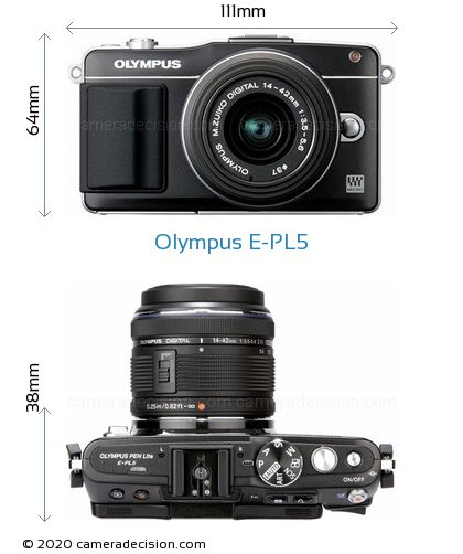 Olympus E-PL5 Body Size Dimensions
