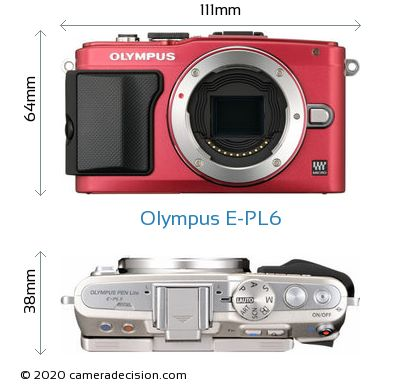Olympus E-PL6 Body Size Dimensions