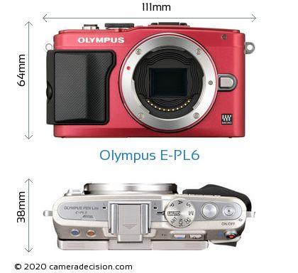Olympus E-PL6 Body Size Dimensions