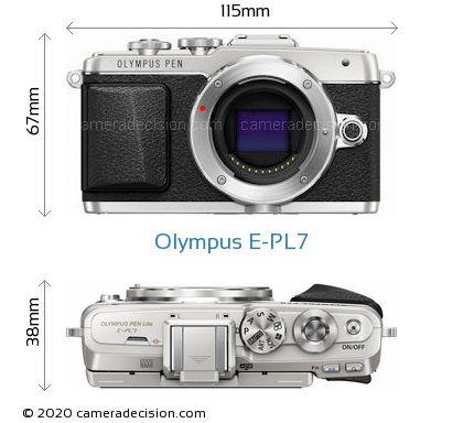 Olympus E-PL7 Body Size Dimensions