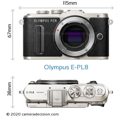 Olympus E-PL8 Body Size Dimensions
