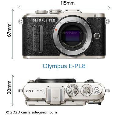 Olympus E-PL8 Body Size Dimensions