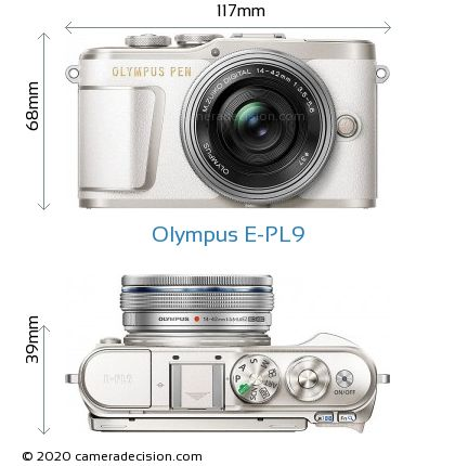 Olympus E-PL9 Body Size Dimensions
