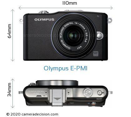 Olympus E-PM1 Body Size Dimensions