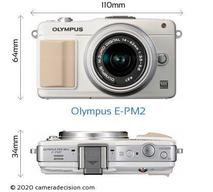 Olympus E-PM2 Body Size Dimensions