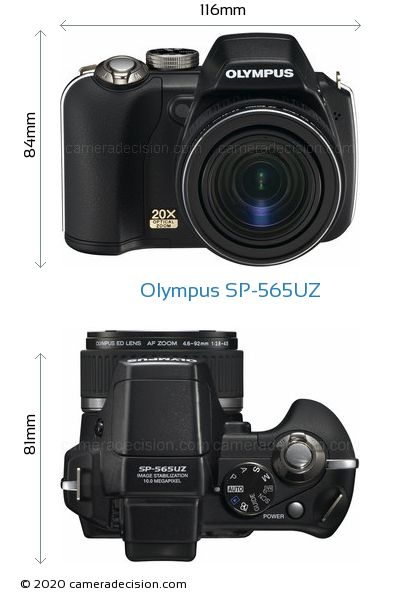 Olympus SP-565UZ Body Size Dimensions