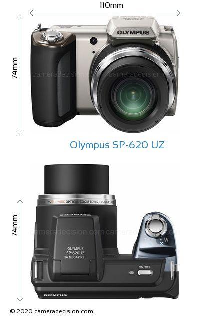 Olympus SP-620 UZ Body Size Dimensions