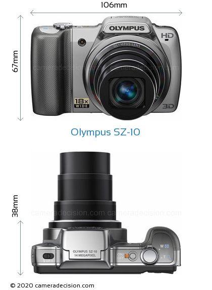 Olympus SZ-10 Body Size Dimensions