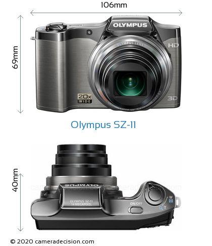 Olympus SZ-11 Body Size Dimensions
