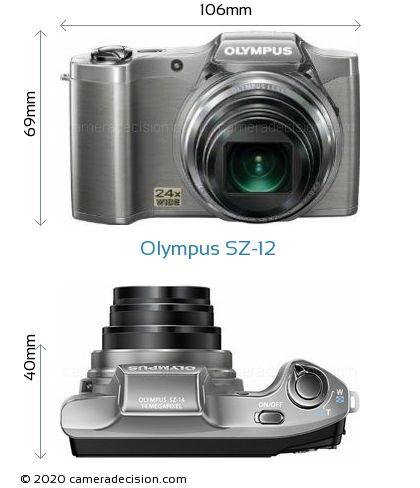 Olympus SZ-12 Body Size Dimensions