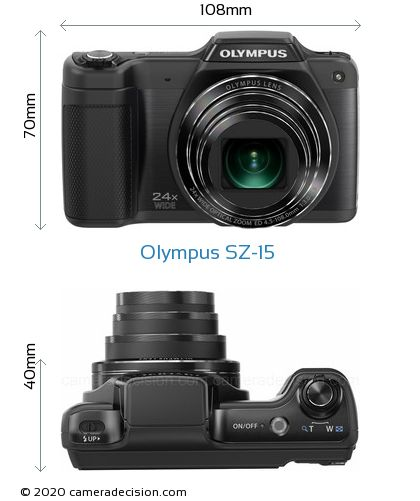 Olympus SZ-15 Body Size Dimensions