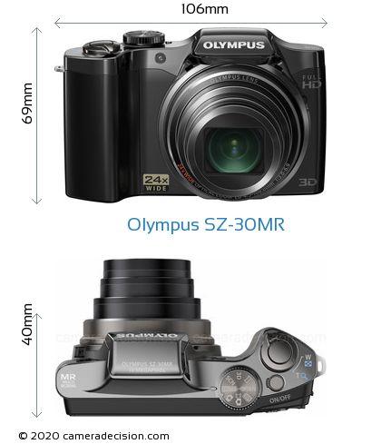 Olympus SZ-30MR Body Size Dimensions