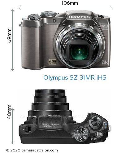 Olympus SZ-31MR iHS Body Size Dimensions
