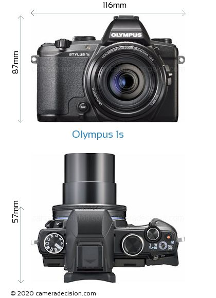 Olympus 1s Body Size Dimensions