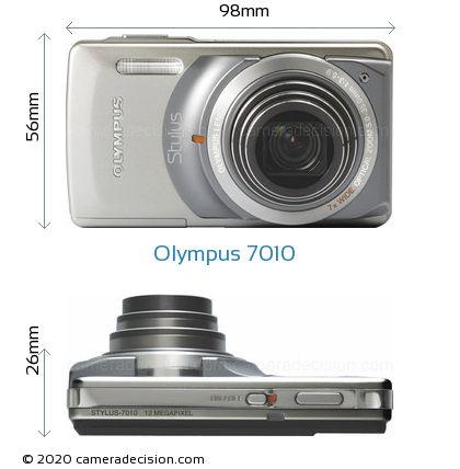 Olympus 7010 Body Size Dimensions