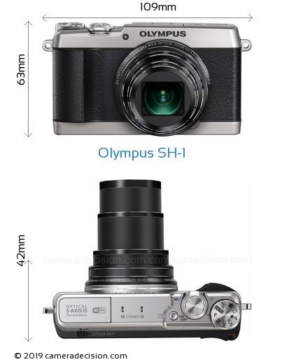 Olympus SH-1 Body Size Dimensions