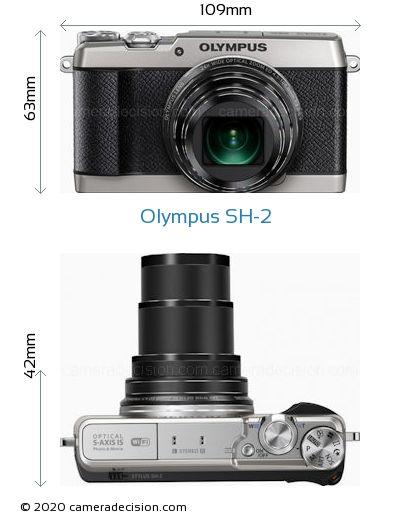 Olympus SH-2 Body Size Dimensions