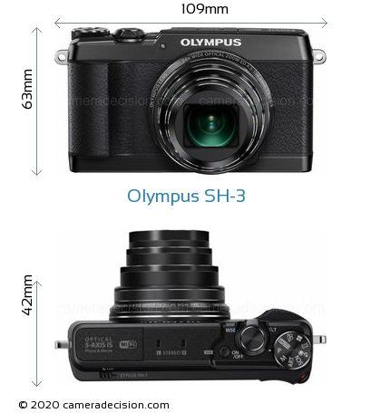 Olympus SH-3 Body Size Dimensions