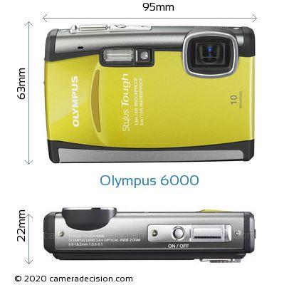 Olympus 6000 Body Size Dimensions