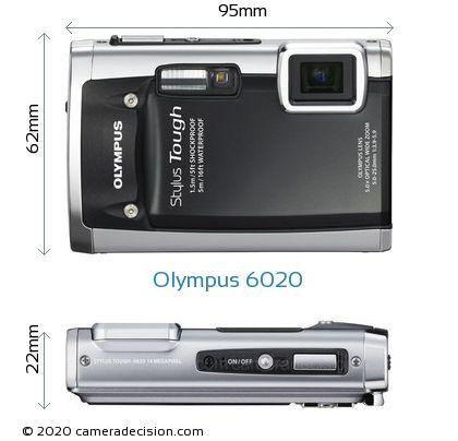 Olympus 6020 Body Size Dimensions