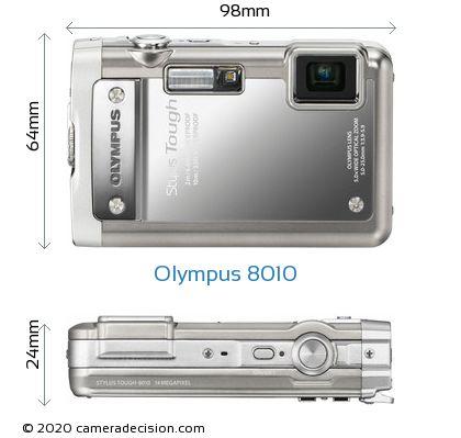 Olympus 8010 Body Size Dimensions