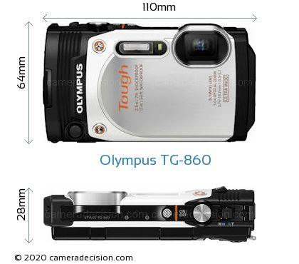Olympus TG-860 Body Size Dimensions