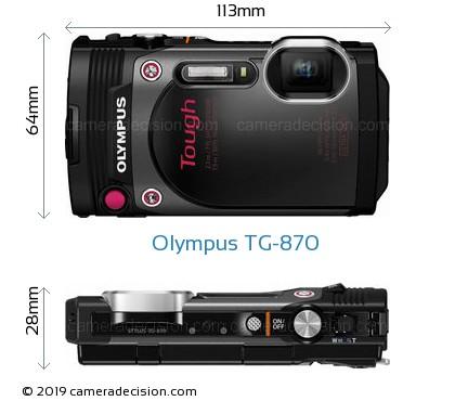 Olympus TG-870 Body Size Dimensions