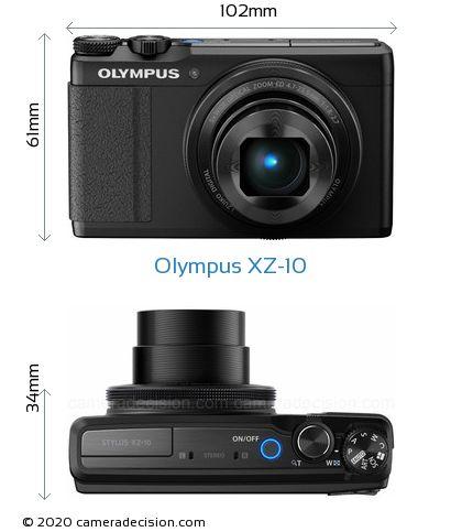 Olympus XZ-10 Body Size Dimensions