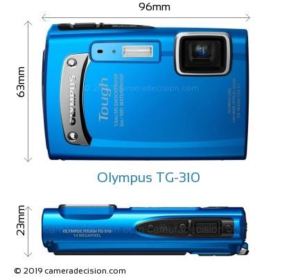 Olympus TG-310 Body Size Dimensions