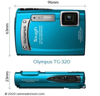 Olympus TG-320 Body Size Dimensions