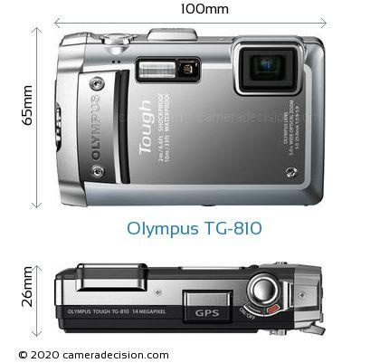 Olympus TG-810 Body Size Dimensions