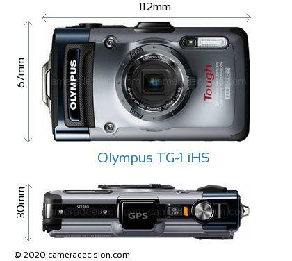 Olympus TG-1 iHS Body Size Dimensions