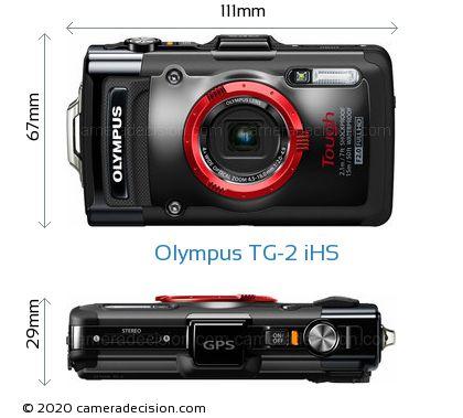 Olympus TG-2 iHS Body Size Dimensions