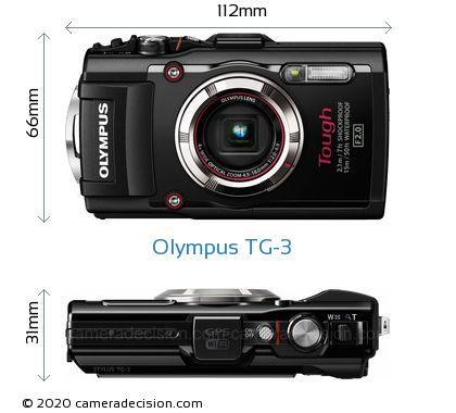 Olympus TG-3 Body Size Dimensions