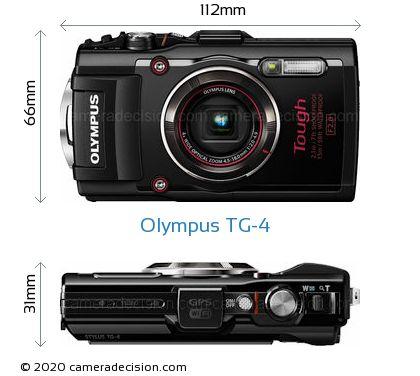 Olympus TG-4 Body Size Dimensions