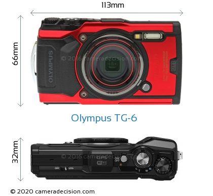 Olympus TG-6 Body Size Dimensions