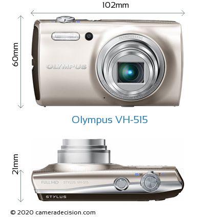 Olympus VH-515 Body Size Dimensions