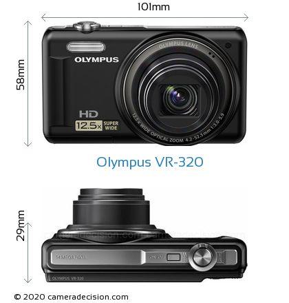 Olympus VR-320 Body Size Dimensions