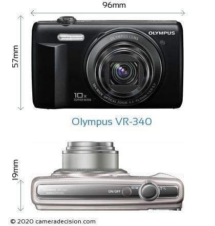 Olympus VR-340 Body Size Dimensions