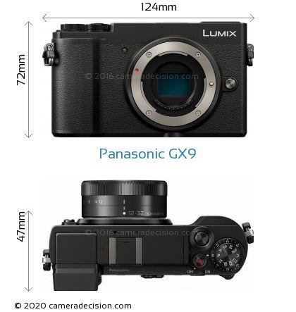 Panasonic GX9 Body Size Dimensions