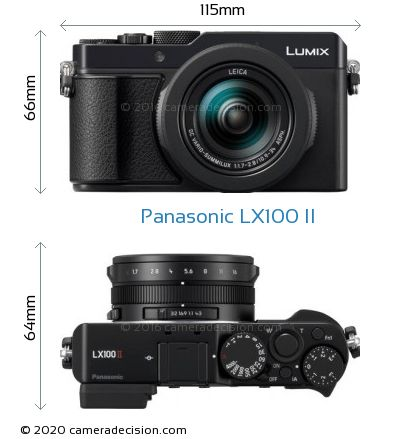 Panasonic LX100 II Body Size Dimensions