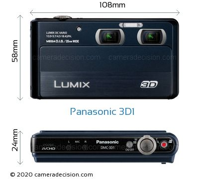 Panasonic 3D1 Body Size Dimensions