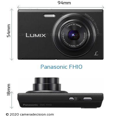 Panasonic FH10 Body Size Dimensions