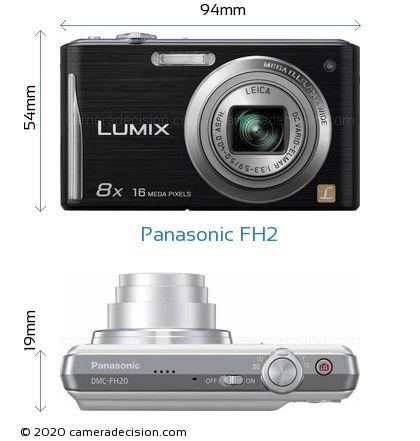 Panasonic FH2 Body Size Dimensions