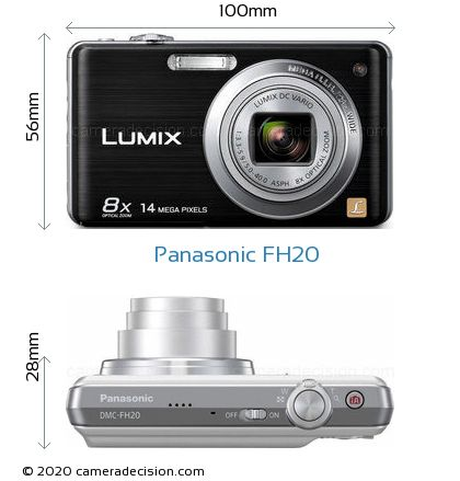 Panasonic FH20 Body Size Dimensions